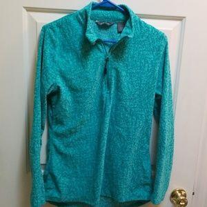Eddie Bauer Tops - Eddie Bauer light weight fleece pullover turquoise
